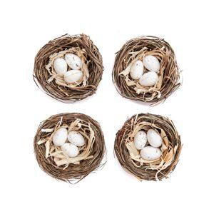 Dekoračné mini hniezda 5.5 cm / 4 ks