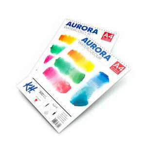 Akvarelový blok AURORA hot press so špirálou - 12 listový