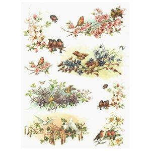 Ryžový papier A4 ITD – Jarné vtáčiky
