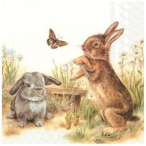 Servítky na dekupáž Bunny - 1 ks