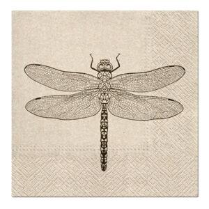 Eko servítky na dekupáž Dragonfly - 1 ks