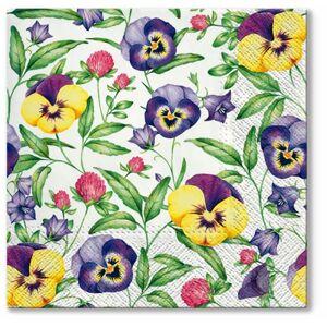 Servítky na dekupáž Beautiful Pansies - 1 ks