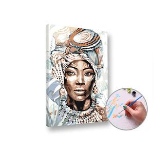 Maľovanie podľa čísel AFRICKÁ ŽENA – stredná náročnosť
