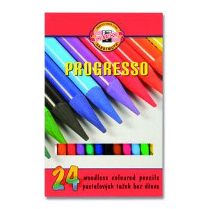 Sada pastelových ceruziek v laku PROGRESSO / 24 dielna