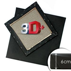 3D+ Čierne maliarske plátno na ráme PROFI / rôzne rozmery