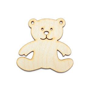 Závesná drevená ozdoba na dekupáž - Medvedik