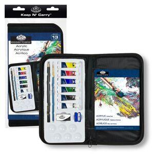 Sada akrylových farieb Essentials v peračníku / 13 dielna