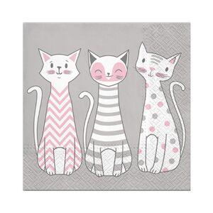 Servítky na dekupáž - Mačky- 1 ks