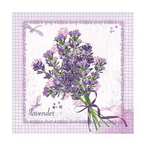 Servítky na dekupáž – Levanduľová kytica – 1 ks