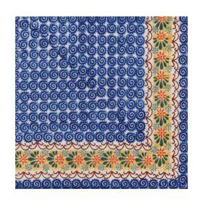 Servítky na dekupáž – Modrý vzor – 1 ks