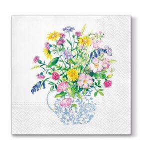 Servítky na dekupáž – Váza s kvetmi – 1 ks