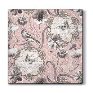 Servítky na dekupáž – Viktoriánske kvety – 1 ks