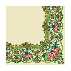 Servítky na dekupáž – Kvetinový vzor – 1 ks