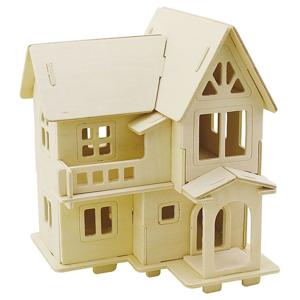 Domček s balkónom - 3D stavebnica