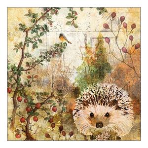 Eko servítky na dekupáž Autumn Hedgehog - 1ks