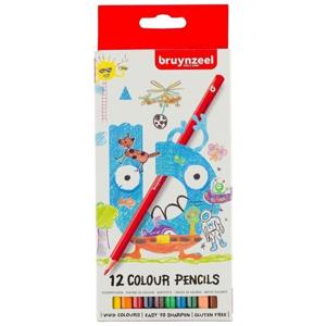 Farebné ceruzky pre deti Bruynzeel Holland / 12 ks