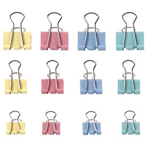 Farebné kovové klipy