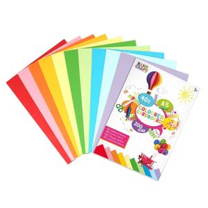 Farebné papierové kartóny A5 - sada 40 ks
