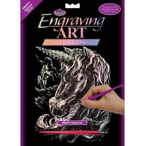 Kreatívny set na engraving [rytie] - Jednorožec