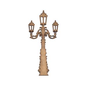 MDF výrez - pouličná lampa