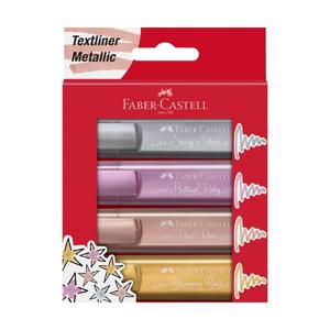 Metalické zvýrazňovače Faber-Castell 4 ks