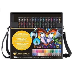 Popisovače Chameleon / sada Deluxe 30 dielna