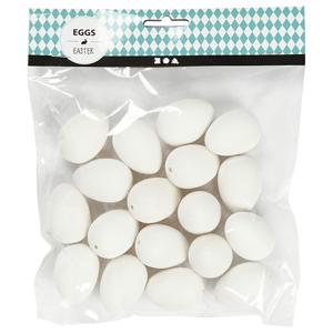 Prepeličie vajíčka z plastu - 18 ks - 4 cm