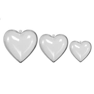Priehľadné akrylové skladacie srdce 5 ks / rôzne veľkosti