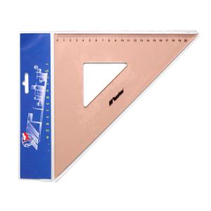 Profesionálne trojuholníkové pravítko LENIAR 45° / 32 cm