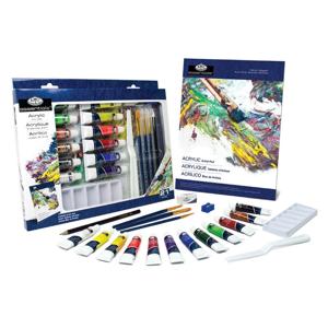 Sada akrylových farieb Essentials v papierovej krabici / 21 dielna