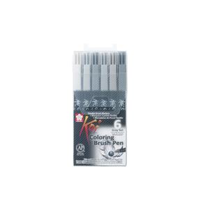 Sakura Koi Coloring Brush Pen fixky / sada 6 ks
