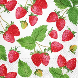Servítky na dekupáž Fresh Strawberry - 1 ks