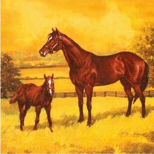 Servítky na dekupáž Mare with a Colt Painting - 1 ks