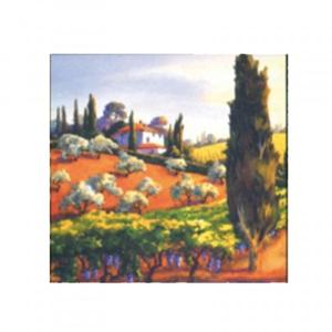 Servítky na dekupáž Toscana Hillcrest - 1 ks
