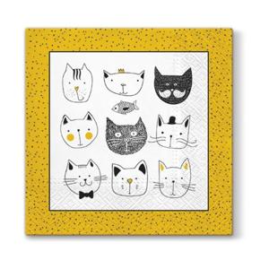 Servítky na dekupáž – Zábavné mačky – 1 ks