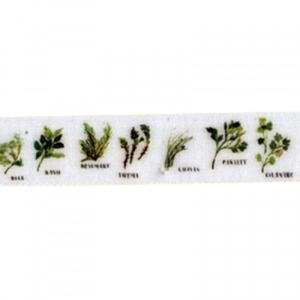 Stuha s rastlinnou potlačou 15 m - rôzne šírky